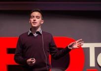 Joel Hutchinson at TEDx Terry Talks 2014   Photo by Sruthi Sreedhar